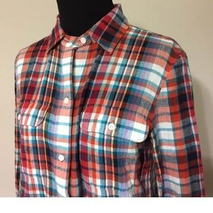 Madewell Plaid Button Down Blouse Top XS